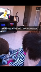 Allie enjoyed some March Madness