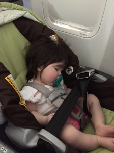 Thankfully this is what Allie did for the majority of our flights. First to Miami and a couple days later to Kingston