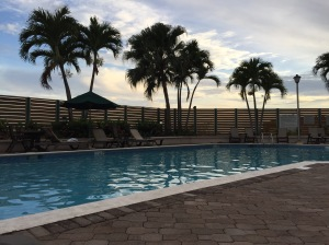 The pool area at our complex