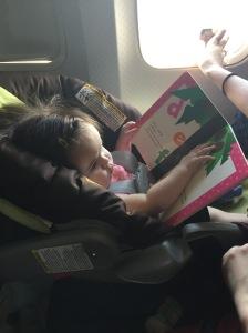 Some light reading on the short flight to Kingston